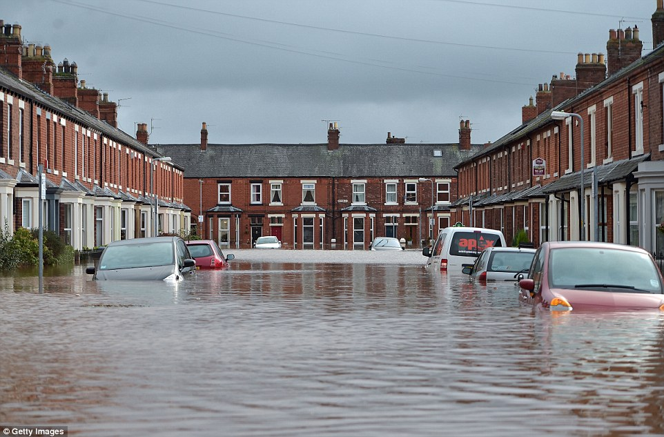 Flooding on street